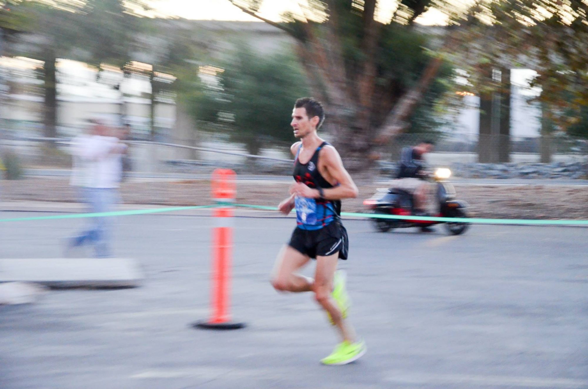 Dr. James winning a half marathon