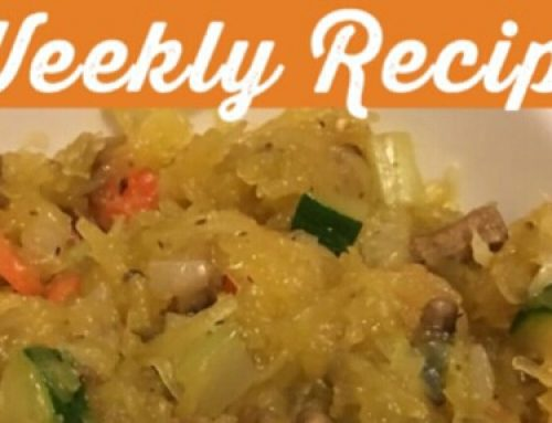Weekly Recipe (10/16/2017): Spaghetti Squash Chow Mien
