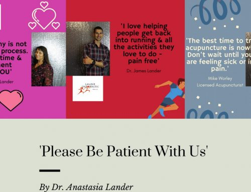 'Please Be Patient With Us' by Dr. Anastasia Lander