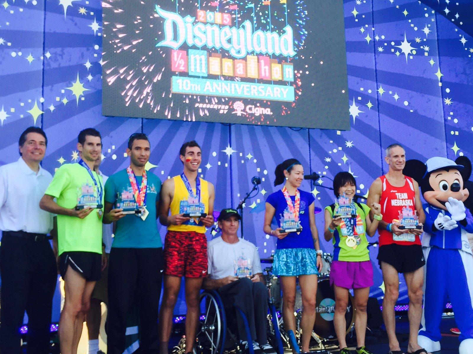 Dr. James winning a half marathon